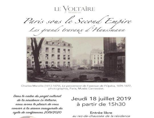 Conférence Au Voltaire